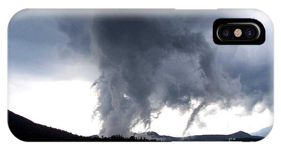 Storm Clouds IPhone X Case featuring the photograph As The Storm Passed 1 by Peggy Miller