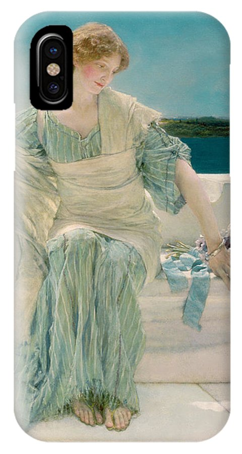 Ask IPhone X Case featuring the painting Ask Me No More by Sir Lawrence Alma-Tadema