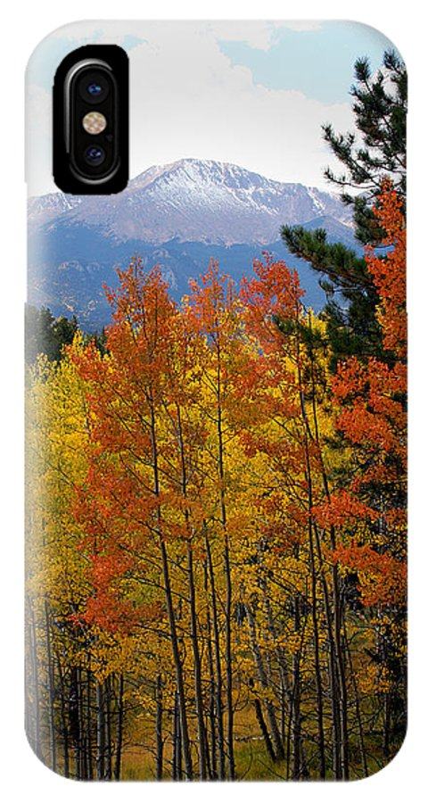 Colorado Mountains IPhone X Case featuring the photograph Aspen Grove And Pikes Peak by Kimberlee Fiedler