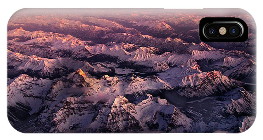 Rockies IPhone X Case featuring the photograph Assiniboine by John Poon