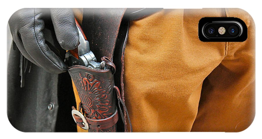 Gunfighter Photo IPhone X Case featuring the photograph At The Ready by Bill Owen