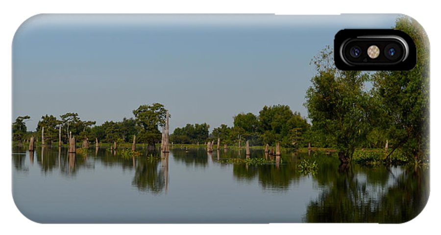 bald Cypress IPhone X Case featuring the photograph Atchafalaya Basin 16 by Maggy Marsh