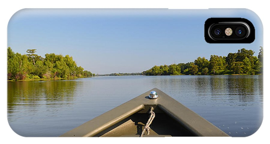 bald Cypress IPhone X Case featuring the photograph Atchafalaya Basin 23 by Maggy Marsh