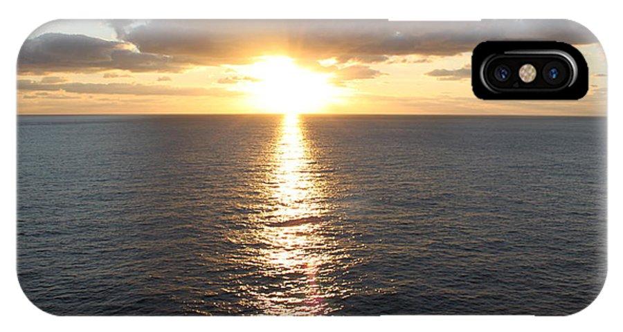 Sunrise IPhone X Case featuring the photograph Atlantic Sunrise by Carol Turner