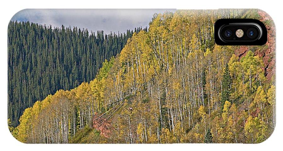 Aspens IPhone X Case featuring the photograph Autumn Aspens San Juan Mountains by Dean Pennala