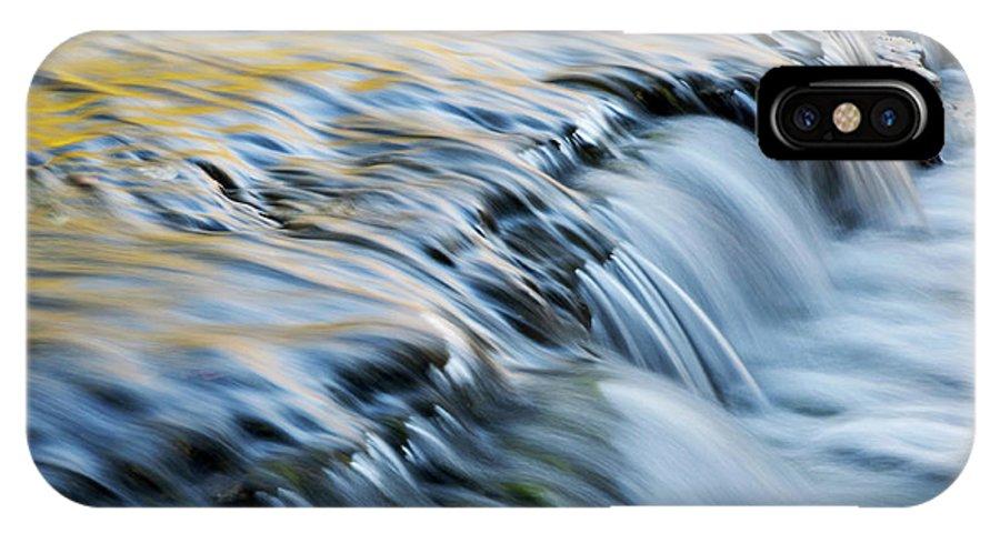 Autrain IPhone X Case featuring the photograph Autumn Autrain Cascade by Dean Pennala