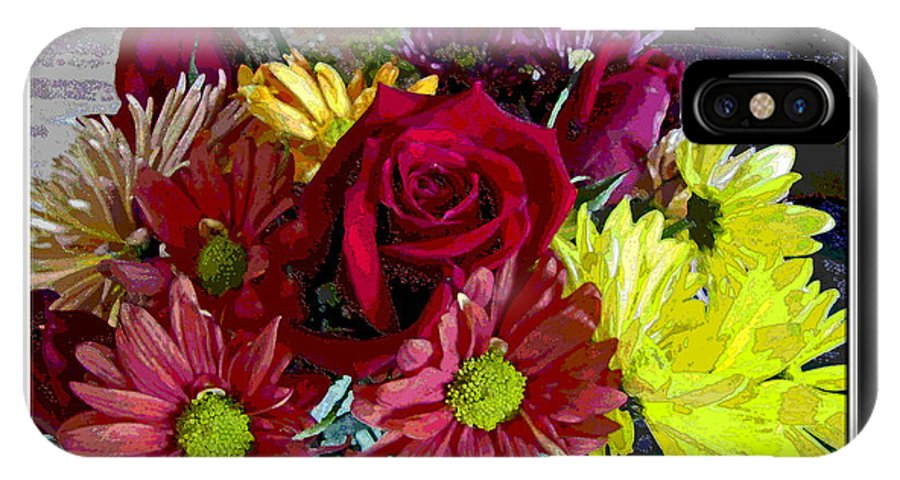 IPhone X Case featuring the digital art Autumn Boquet by Debbie Portwood