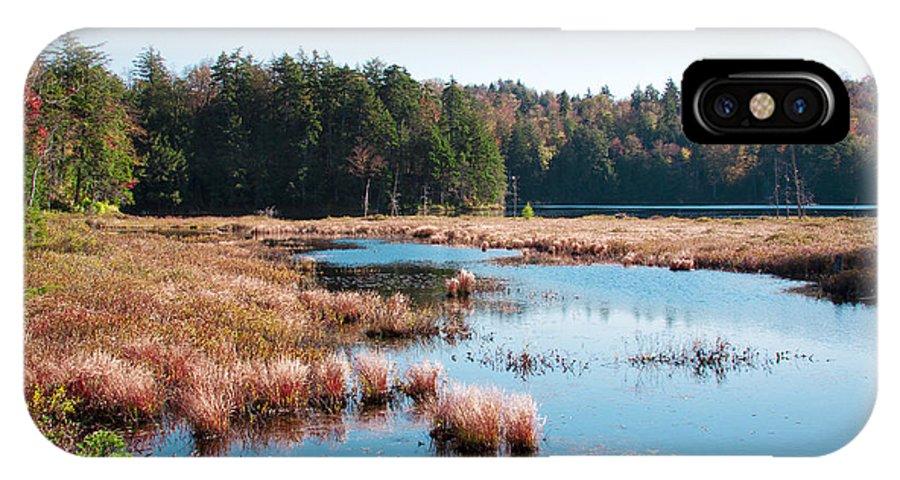 The Adirondacks IPhone X Case featuring the photograph Adirondack Lake 2 by David Patterson