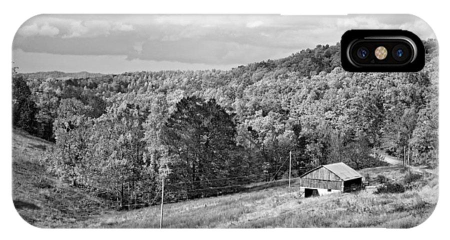 West Virginia IPhone X Case featuring the photograph Autumn Farm 2 Monochrome by Steve Harrington
