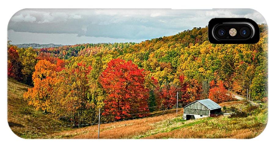 West Virginia IPhone X Case featuring the photograph Autumn Farm 2 by Steve Harrington