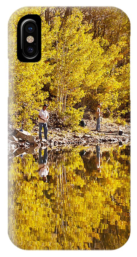 Activity IPhone X Case featuring the photograph Autumn Fishing by MakenaStockMedia