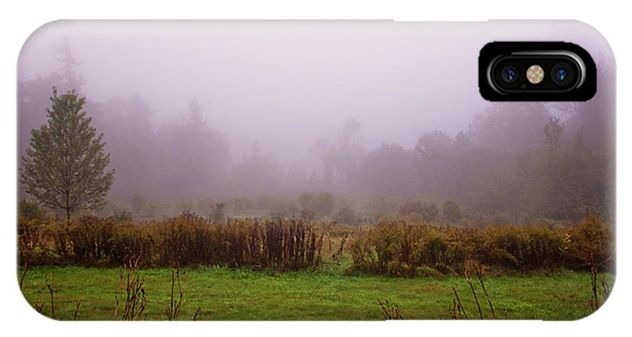 New Hampshire Autumn IPhone X Case featuring the photograph Autumn Fog by Tom Singleton