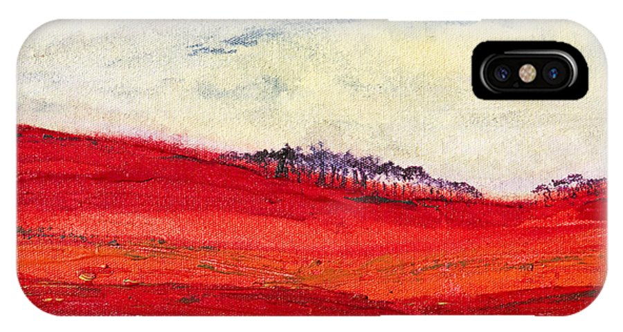 Autumn IPhone X Case featuring the painting Autumn Hills 01 by Melanie Meyer
