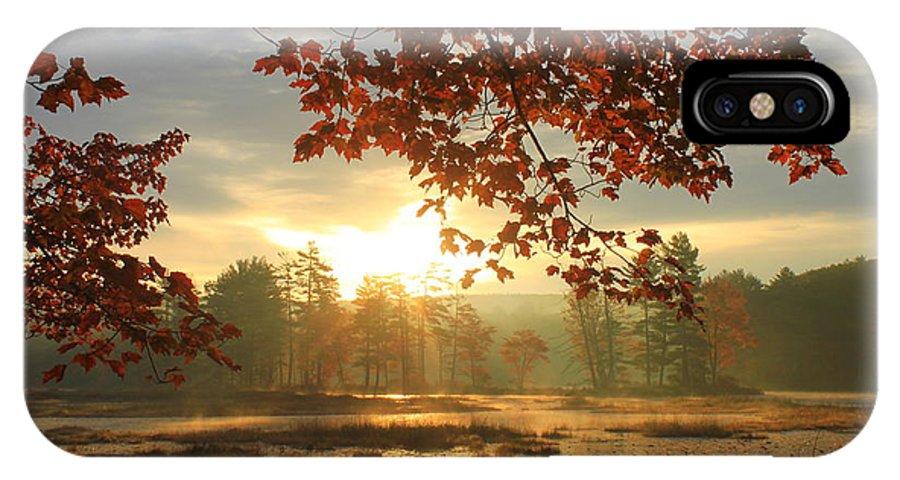 Autumn IPhone X / XS Case featuring the photograph Autumn Morning At Harvard Pond by John Burk
