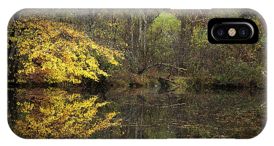 Autumn IPhone X / XS Case featuring the photograph Autumn On The Pond by Rob Travis