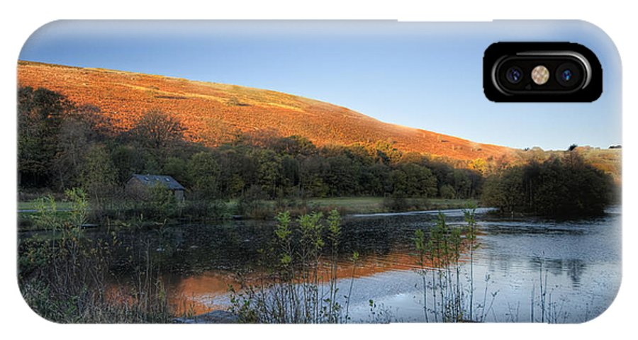 Autumn Pond IPhone X Case featuring the photograph Autumn Pond 2 by Steve Purnell