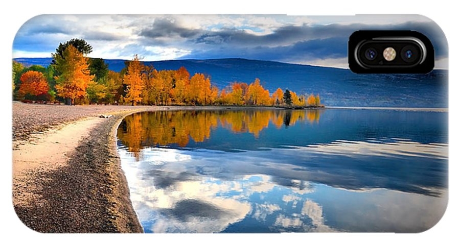 Autumn IPhone X / XS Case featuring the photograph Autumn Reflections In October by Tara Turner