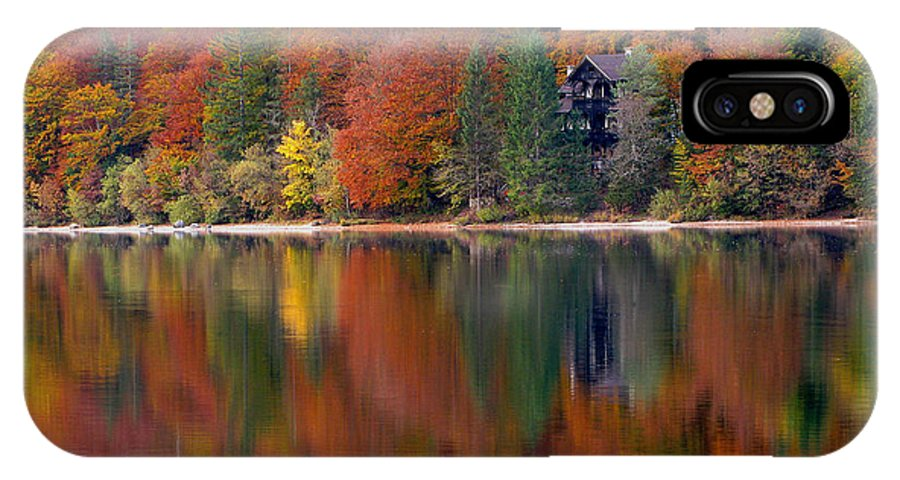 Lake Bohinj IPhone X / XS Case featuring the photograph Autumn Reflections On Lake Bohinj In Slovenia by Greg Matchick