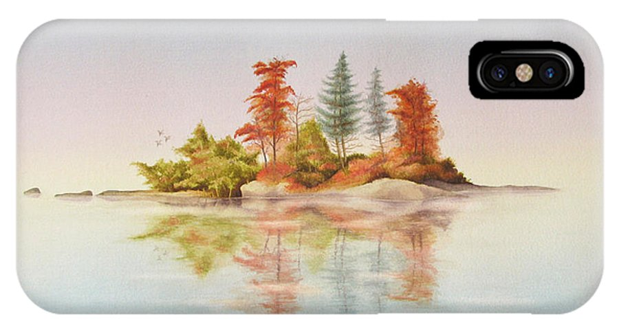 Autumn IPhone X Case featuring the painting Autumn Reflections by Robert Boast Cornish