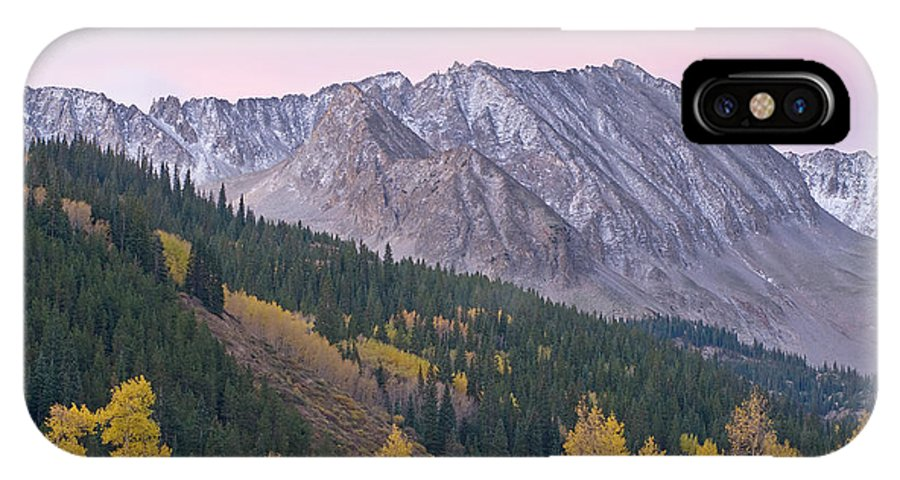 Aspens IPhone X Case featuring the photograph Autumn Rocky Mountains by Dean Pennala