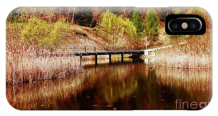 Landscape IPhone X Case featuring the photograph Autumn Shine by Elaine Manley