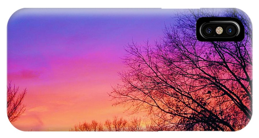 Sky IPhone X Case featuring the photograph Autumn Sky by Susan Carella