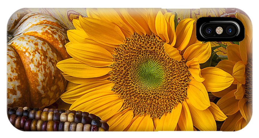 Autumn IPhone X Case featuring the photograph Autumn Still Life by Garry Gay