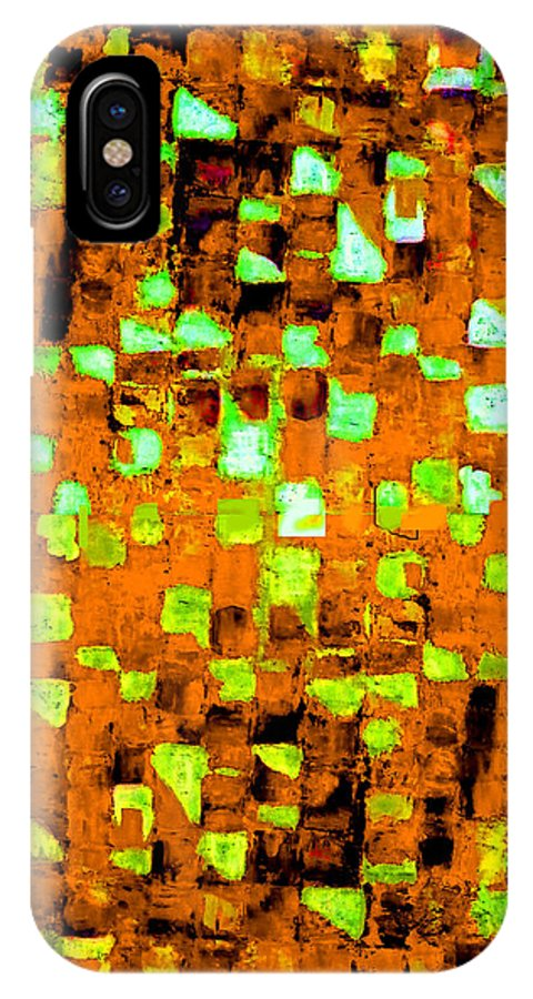 Australian IPhone X Case featuring the painting Autumns Wake 1 by Giro Tavitian