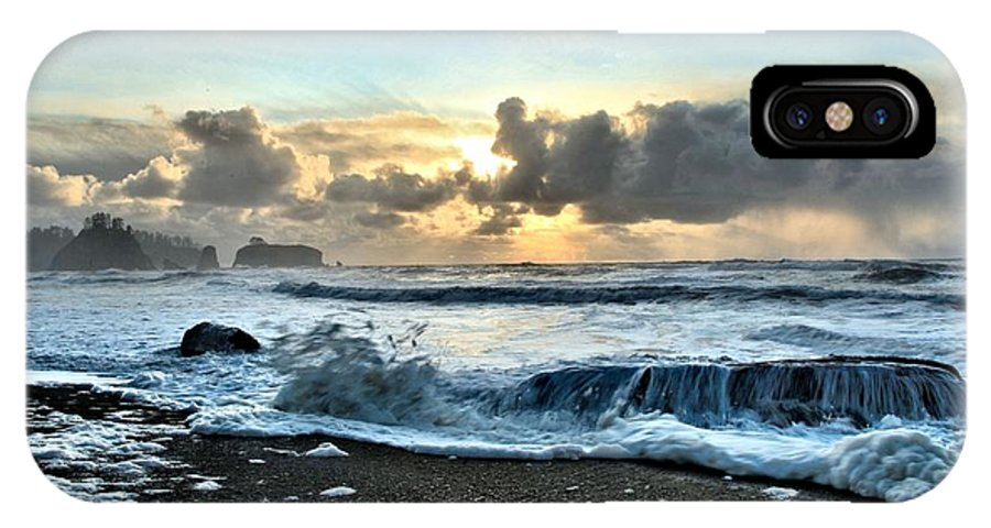 Rialto Beach IPhone X / XS Case featuring the photograph Awash In The Sea by Adam Jewell