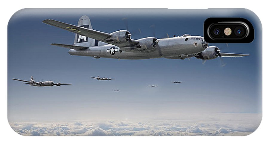 Aircraft IPhone X / XS Case featuring the photograph B29 - Superfortress by Pat Speirs
