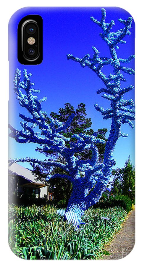 Baby Blue Tree IPhone X Case featuring the photograph Baby Blue Tree by Xueling Zou
