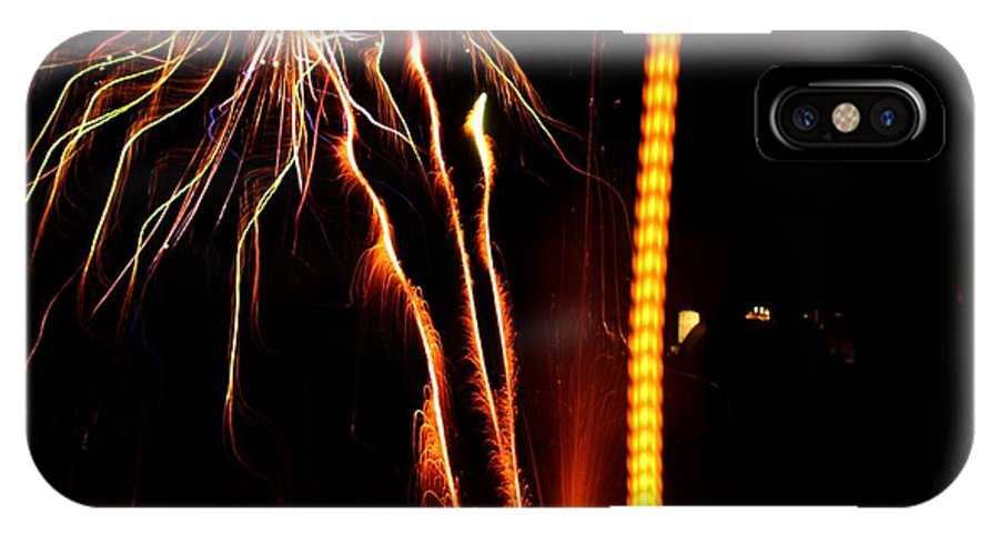 Fireworks IPhone X Case featuring the photograph Backyard Fireworks 2012 1 by Robert Morin