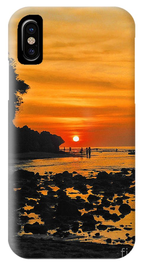 Indonesian IPhone X Case featuring the photograph Bali Indonesian Sunset by RJ Aguilar