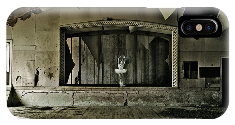 Street Photographer IPhone X / XS Case featuring the photograph Ballerinas Ballad Two by The Artist Project