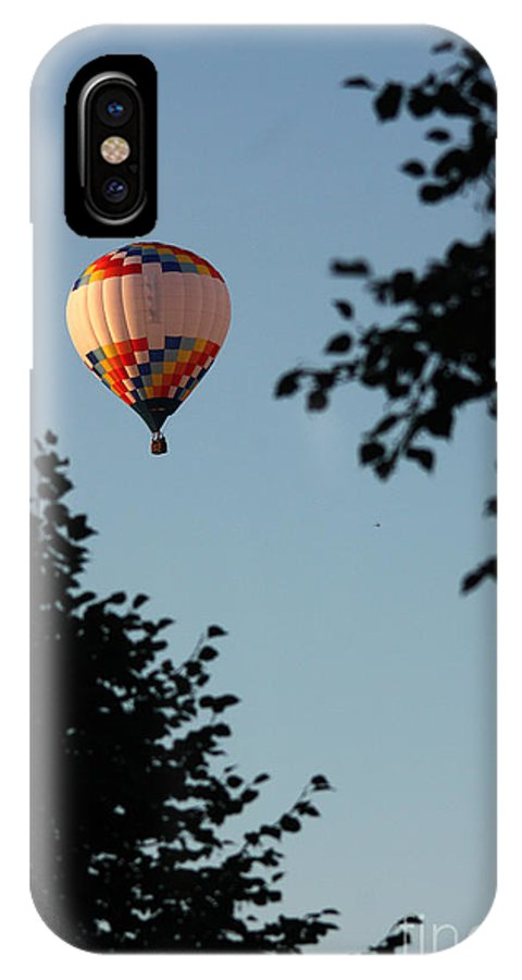 Hot Air Balloon IPhone X Case featuring the photograph Balloon-7081 by Gary Gingrich Galleries