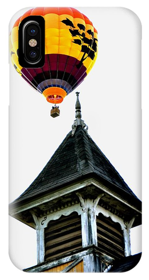 Balloon IPhone X Case featuring the photograph Balloon By The Steeple by Rick Frost