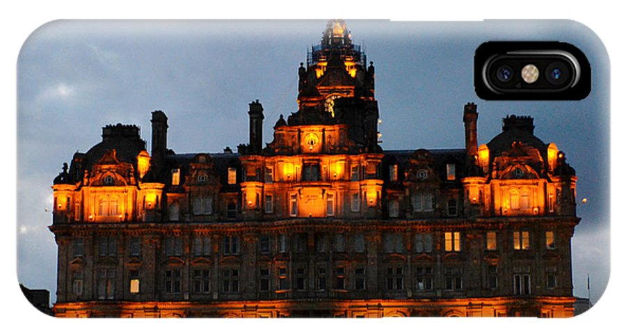 Building IPhone X Case featuring the digital art Balmoral At Night by Pravine Chester