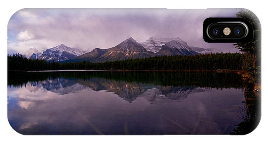 Herbert Lake IPhone X / XS Case featuring the photograph Banff - Herbert Lake by Terry Elniski