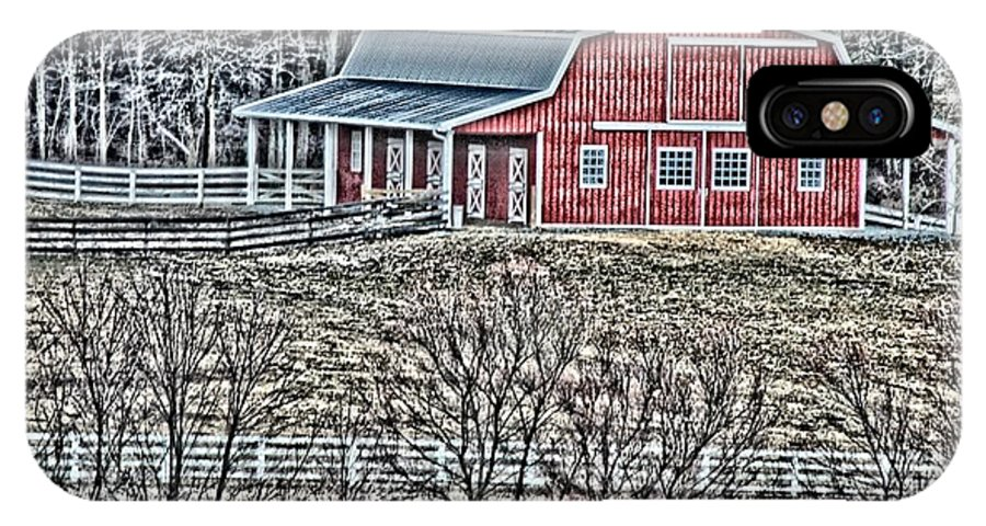 Barn IPhone X Case featuring the photograph Barn by Tom Leach
