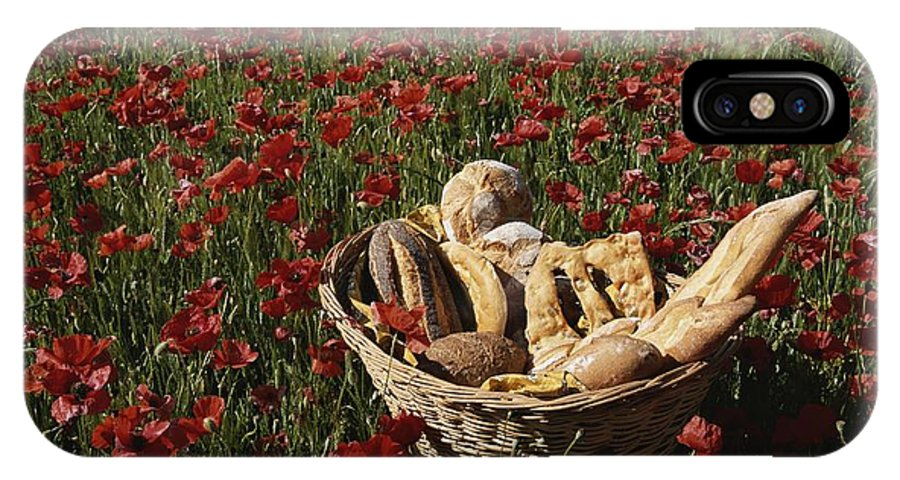 Europe IPhone X / XS Case featuring the photograph Basket Of Bread In A Poppy Field by Nicole Duplaix