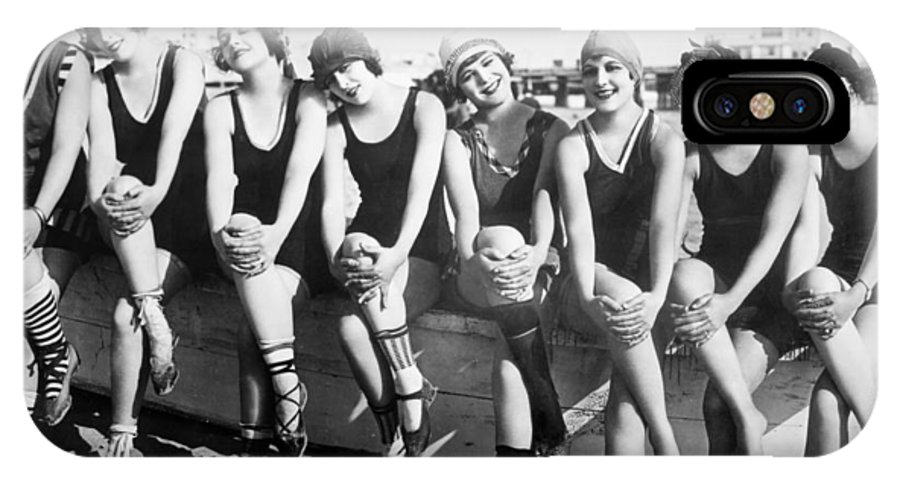 1916 IPhone X Case featuring the photograph Bathing Beauties, 1916 by Granger