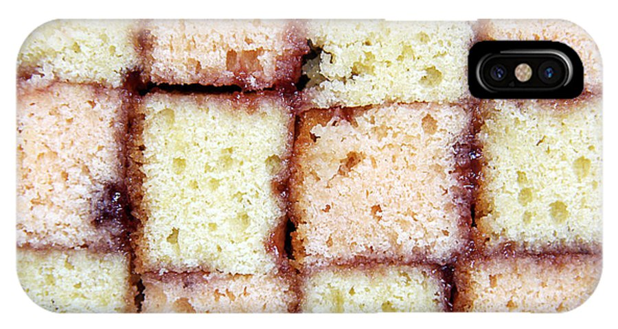 Appetizing IPhone X Case featuring the photograph Battenburg Cake by Jane Rix