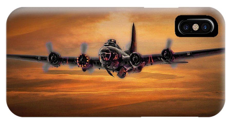 Aviation IPhone X Case featuring the photograph Battle Scarred But Heading Home by Chris Lord