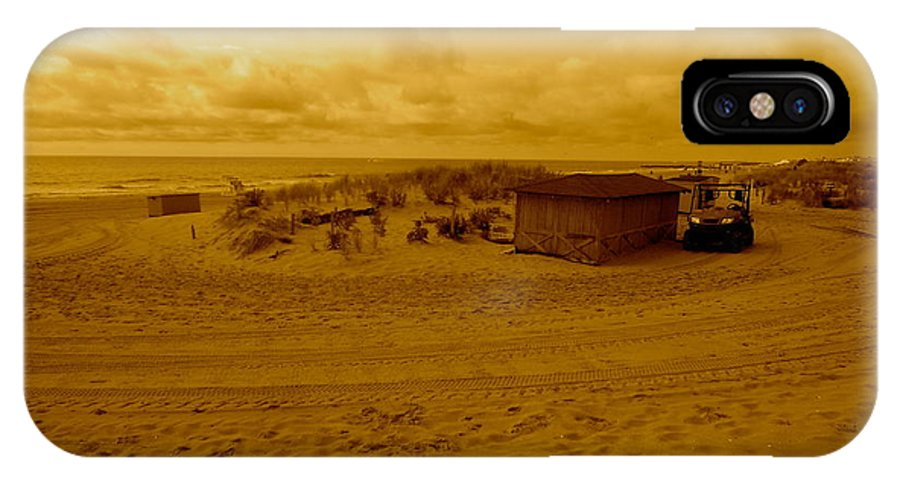 Landscape IPhone X Case featuring the photograph Baywatch. Where Is Pam Anderson by Joe Burns