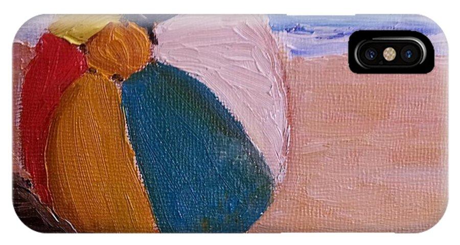 Beach Ball IPhone X Case featuring the painting Beach Ball by Diane Elgin