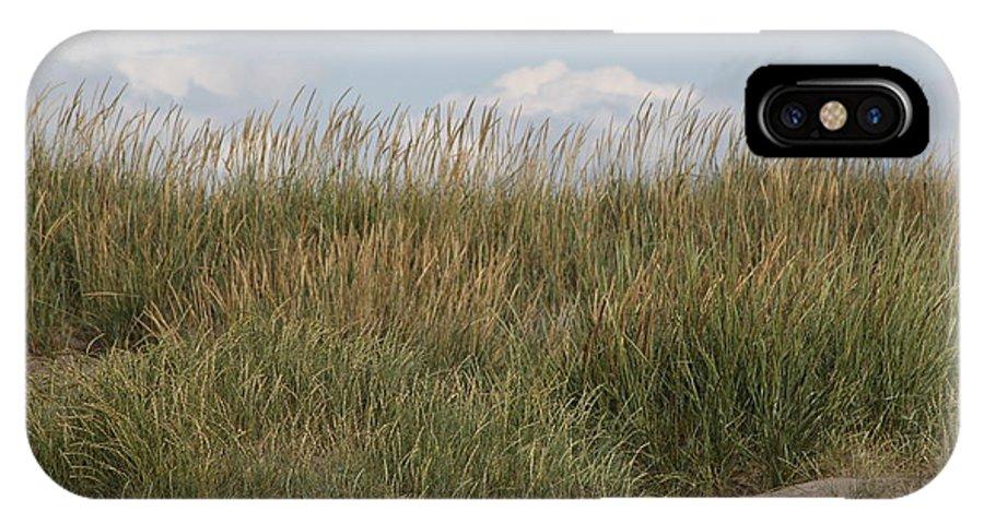Grass IPhone X Case featuring the photograph Beach Bluff by Carol Ann Thomas