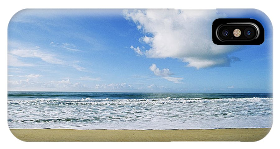 North America IPhone X / XS Case featuring the photograph Beach, Ocean, Sky, And Clouds by Skip Brown