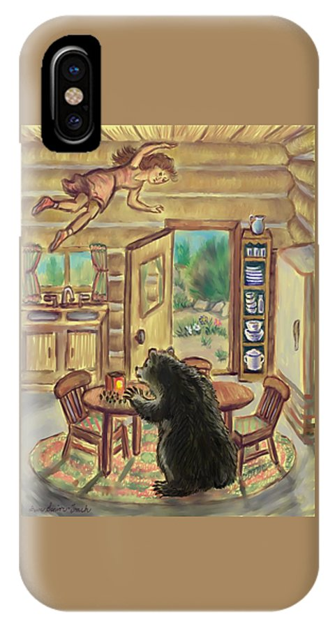 Dream IPhone X / XS Case featuring the digital art Bear In The Kitchen - Dream Series 7 by Dawn Senior-Trask