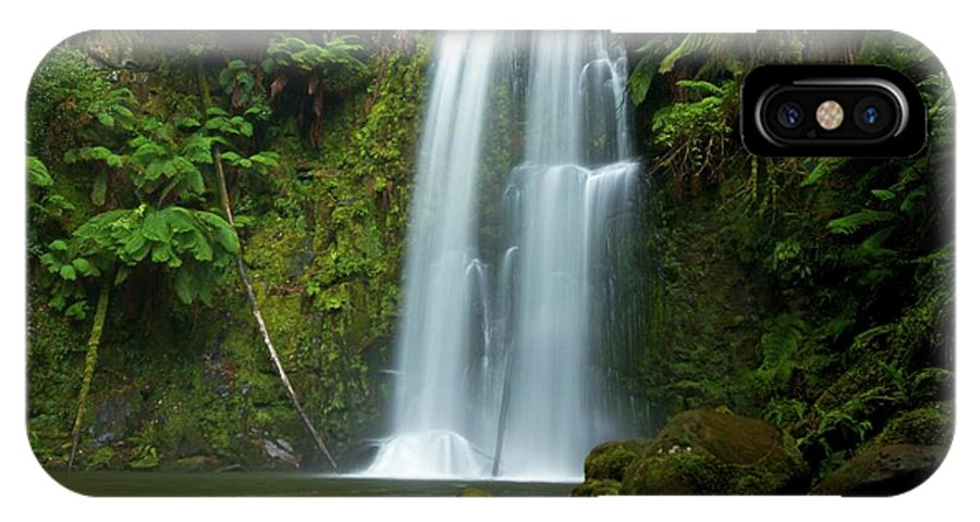 Beauchamp Falls IPhone X Case featuring the photograph Beauchamp Falls by Chris Anthony