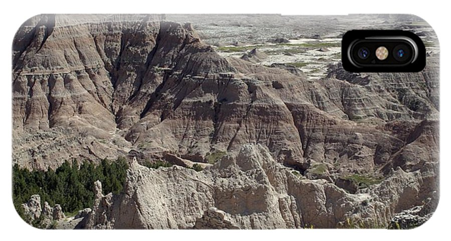 Badlands IPhone X Case featuring the photograph Beautiful Badlands by Living Color Photography Lorraine Lynch